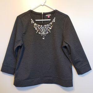 Vince Camuto | jeweled sweatshirt
